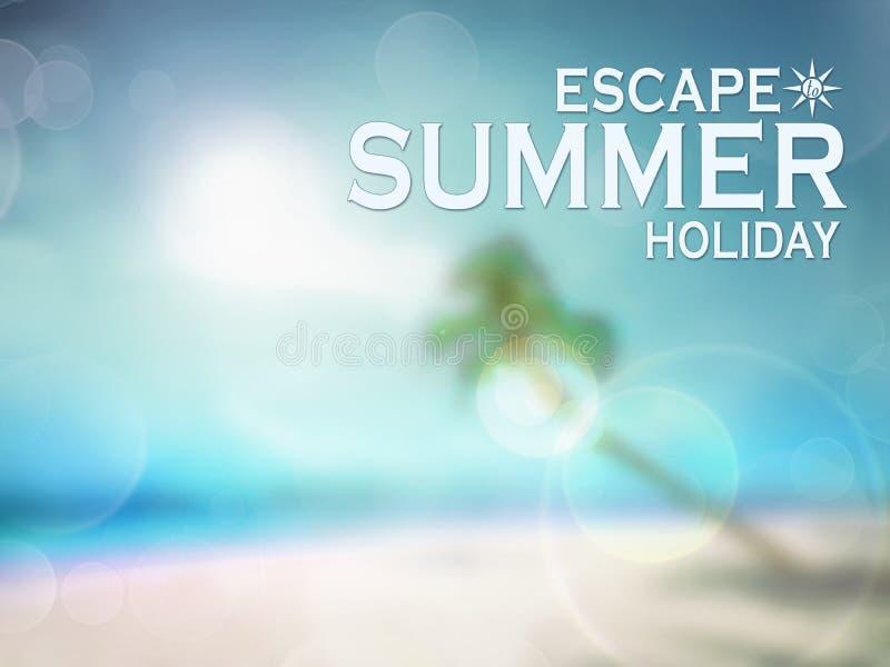 De achtergrond van de de zomervakantie vector illustratie