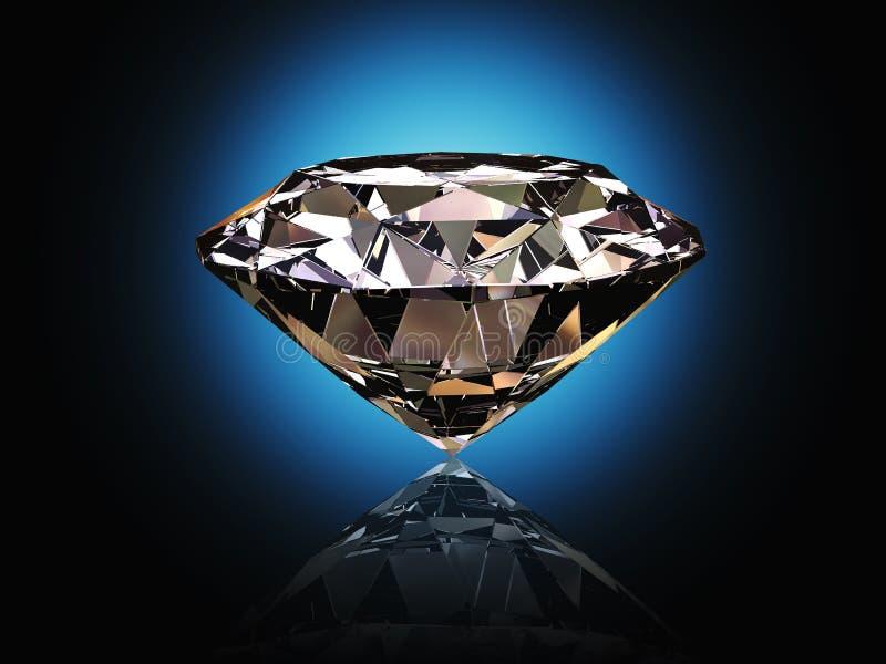 De achtergrond van de diamant royalty-vrije illustratie
