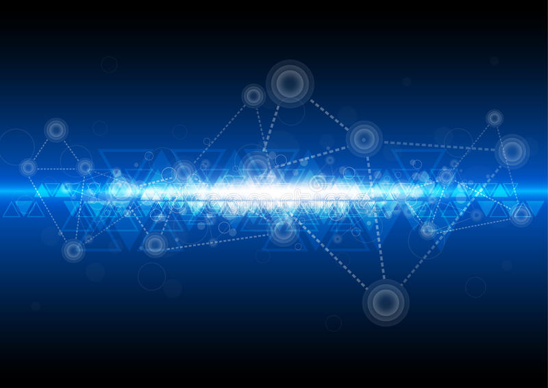 De achtergrond van de digitaal netwerktechnologie stock illustratie