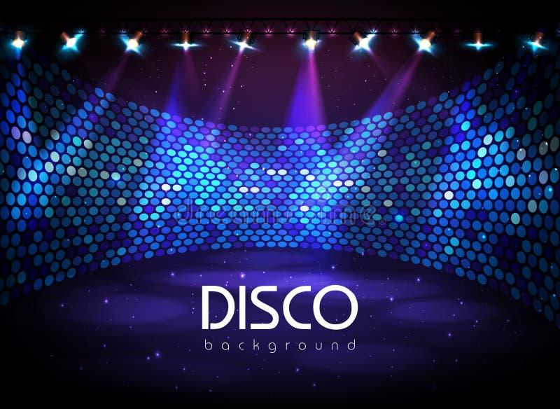 De achtergrond van de disco royalty-vrije illustratie