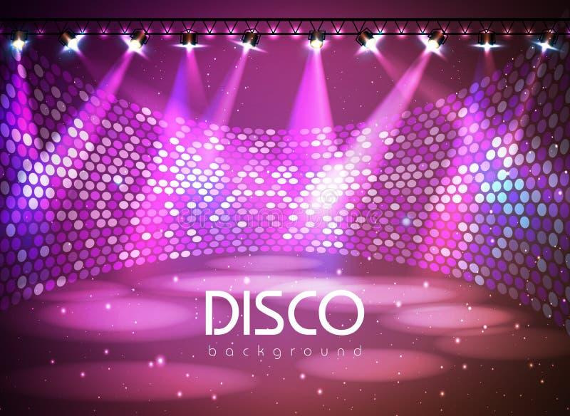 De achtergrond van de disco stock illustratie