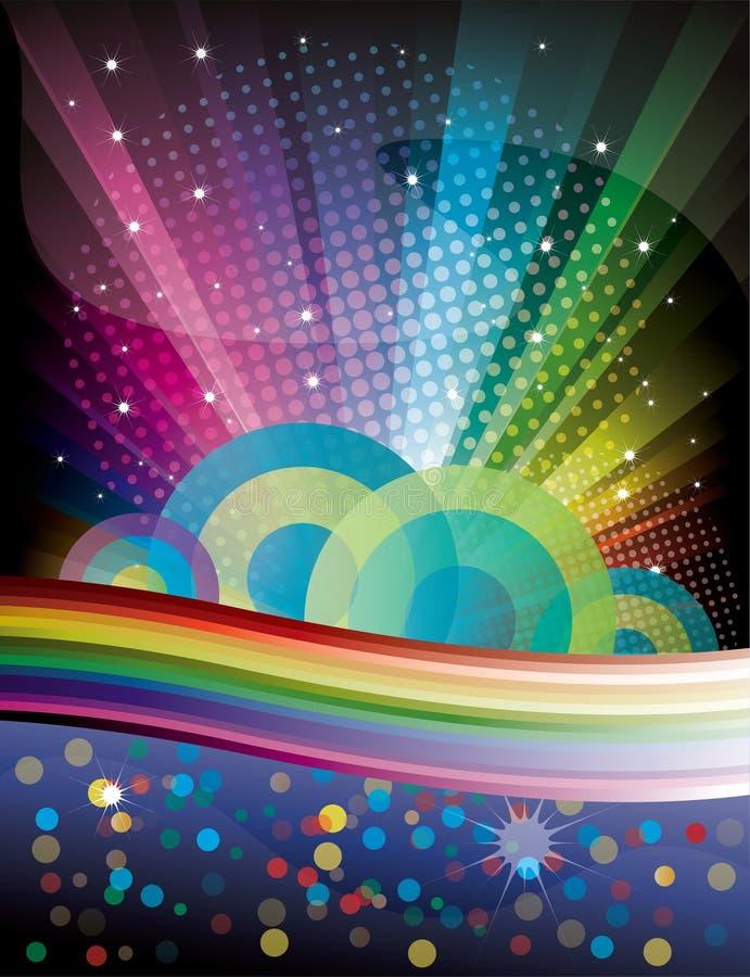 De Achtergrond van de Disco van de regenboog royalty-vrije illustratie
