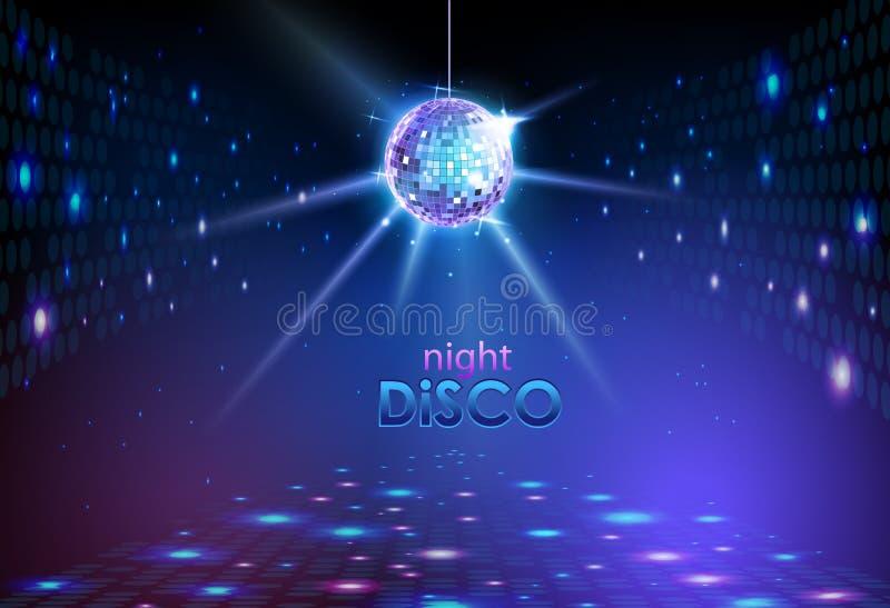 De achtergrond van de discobal vector illustratie