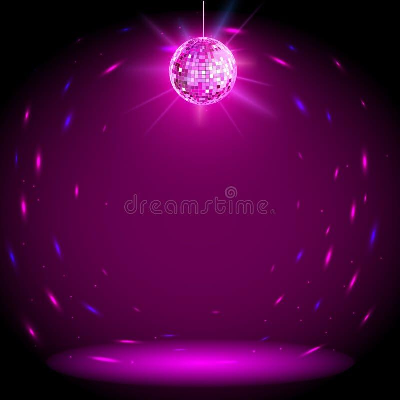 De achtergrond van de discobal stock illustratie
