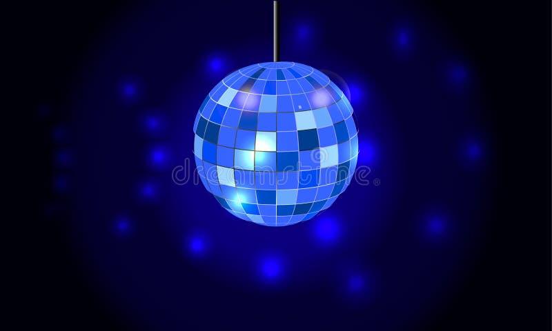 De achtergrond van de discobal royalty-vrije illustratie