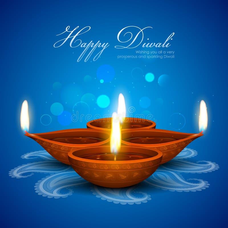 De achtergrond van de Diwalivakantie vector illustratie