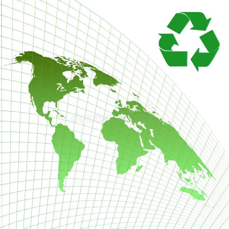 De achtergrond van de ecologie vector illustratie