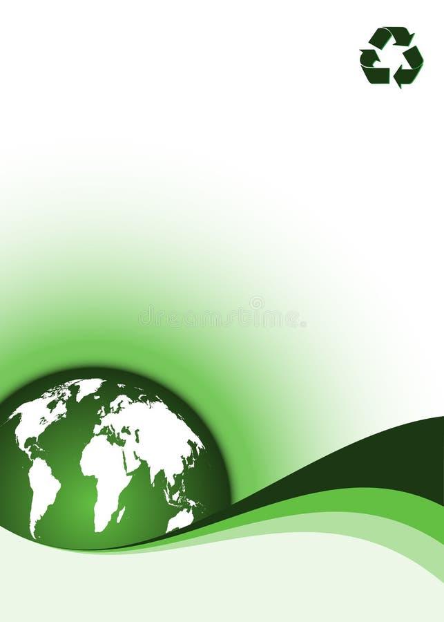 De achtergrond van de ecologie royalty-vrije illustratie
