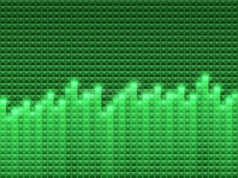 De achtergrond van de equaliser vector illustratie
