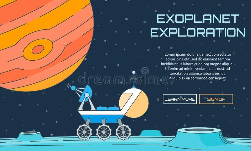 De achtergrond van de Exoplanetexploratie stock illustratie