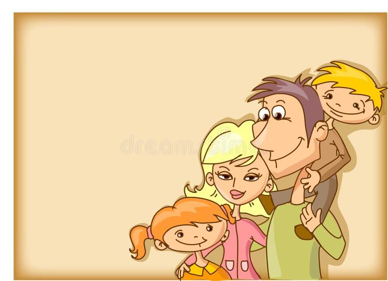De achtergrond van de familie royalty-vrije illustratie