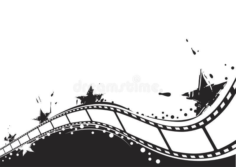 De achtergrond van de film stock illustratie