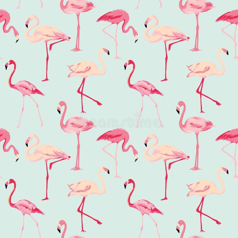 De Achtergrond van de flamingovogel stock illustratie