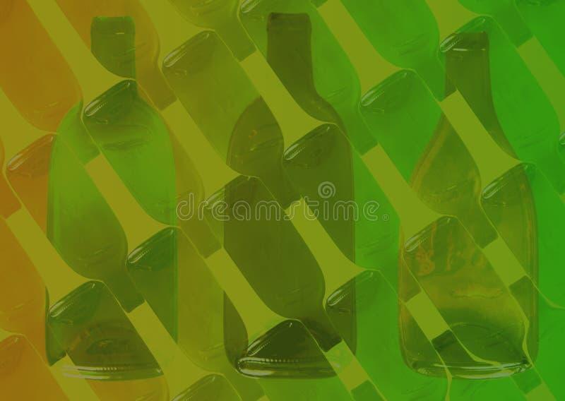 De achtergrond van de fles royalty-vrije illustratie