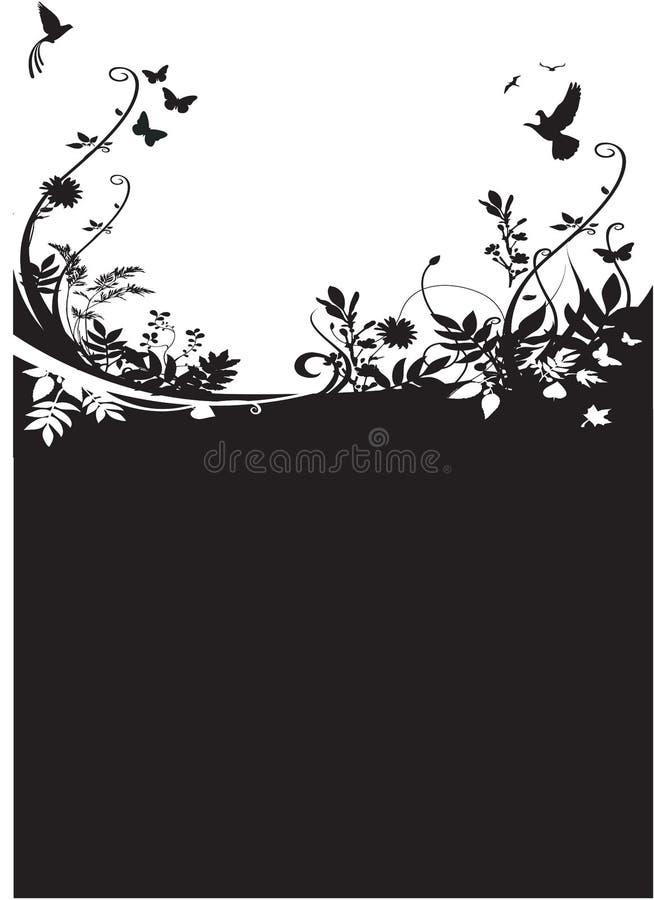 De Achtergrond Van De Flora En Van De Fauna Stock Afbeeldingen