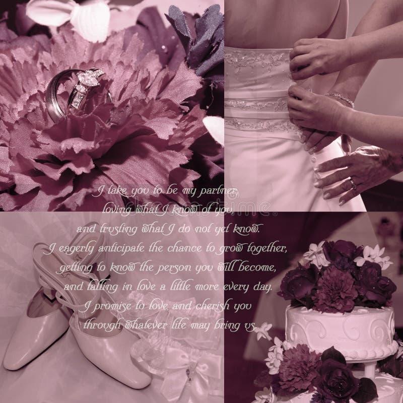 De Achtergrond van de Geloften van het huwelijk stock afbeeldingen