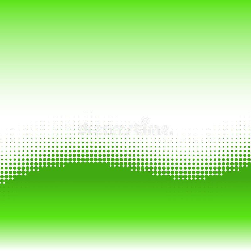 De achtergrond van de golf met halftone effect stock illustratie