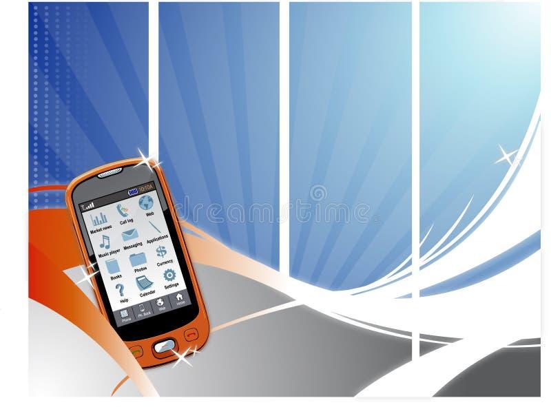 De Achtergrond van de Golf van de telefoon vector illustratie