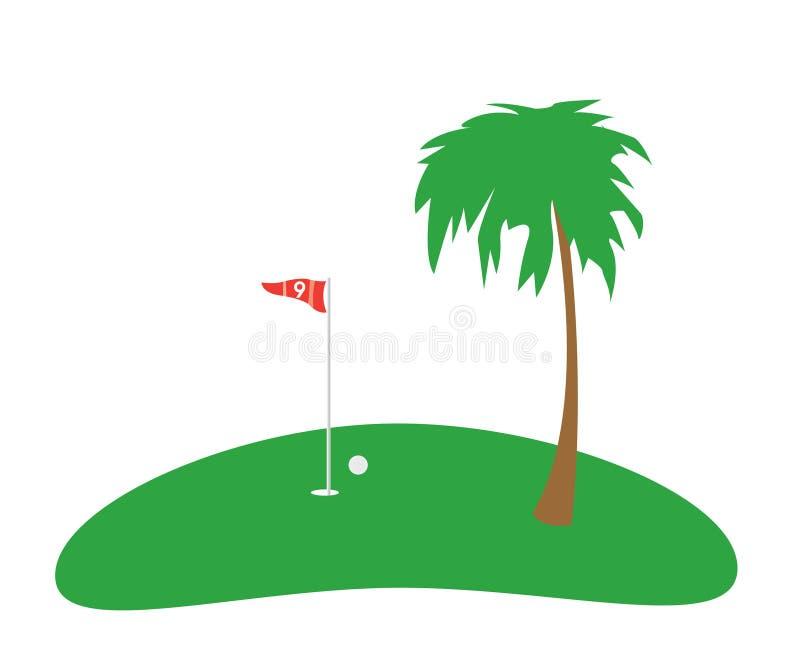De Achtergrond van de golfvlag stock illustratie