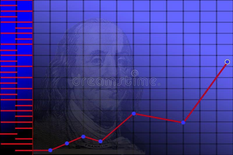 De achtergrond van de grafiek vector illustratie