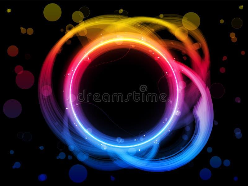 De Achtergrond van de Grens van de Cirkel van de regenboog vector illustratie