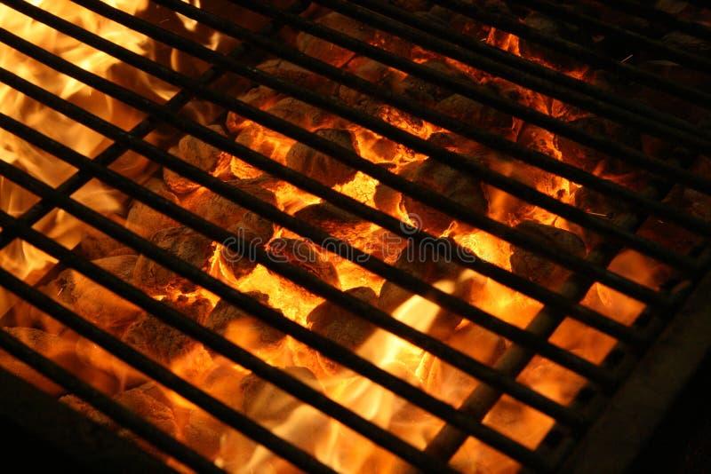 De achtergrond van de grill stock afbeelding
