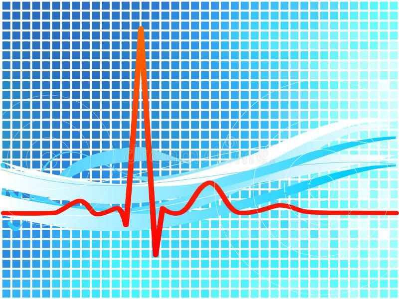De achtergrond van de hartslag vector illustratie
