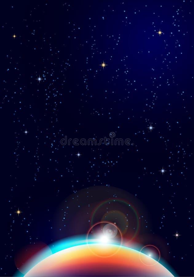 De achtergrond van de hemel vector illustratie