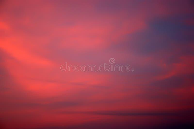 De Achtergrond van de Hemel van de zonsondergang royalty-vrije stock afbeelding