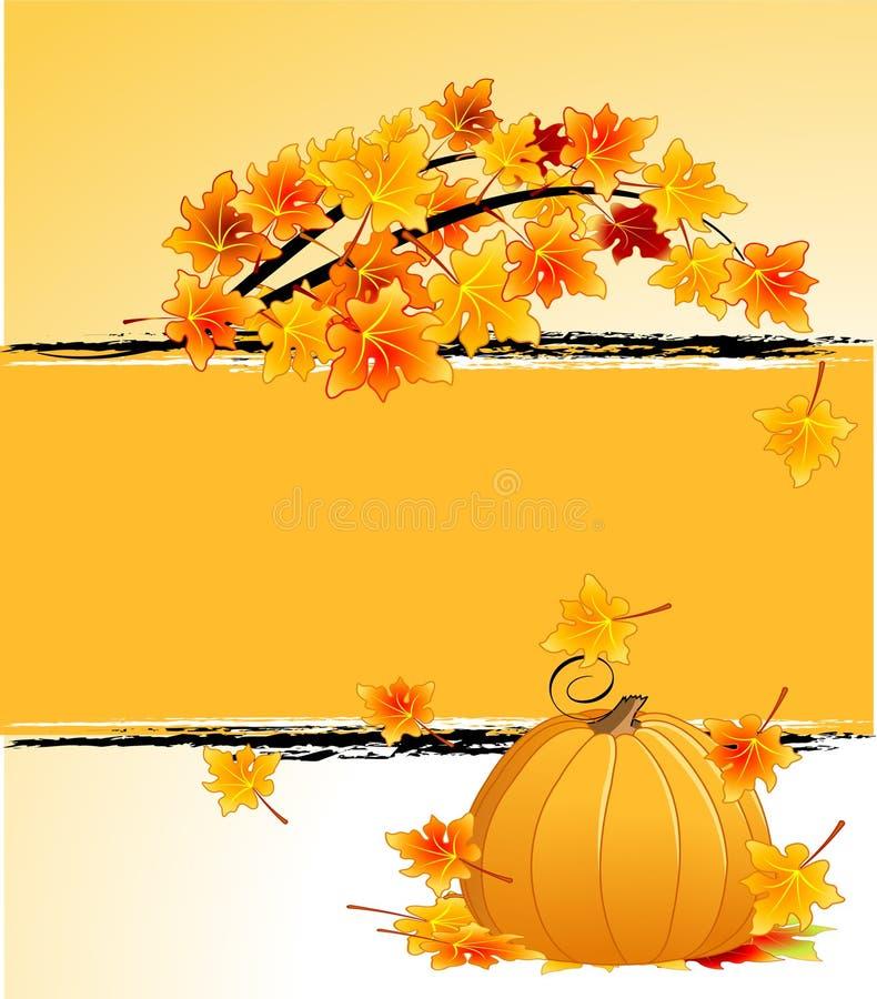 Download De Achtergrond Van De Herfst Vector Illustratie - Illustratie bestaande uit uitnodiging, ontwerp: 10778916