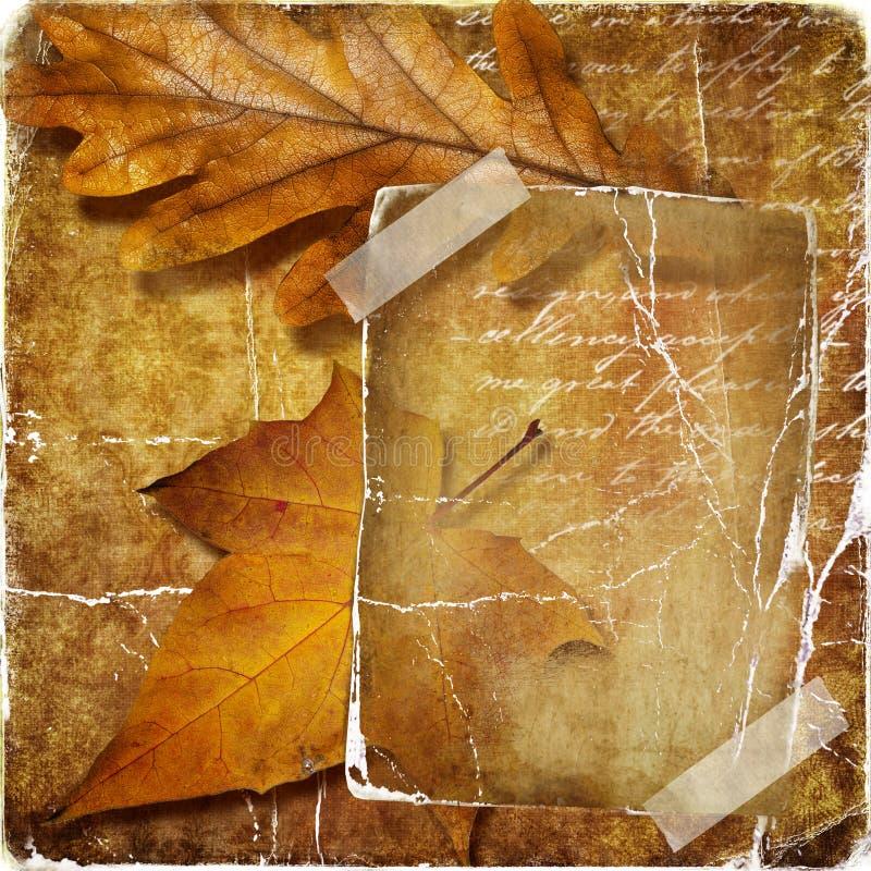 De achtergrond van de herfst royalty-vrije stock afbeeldingen