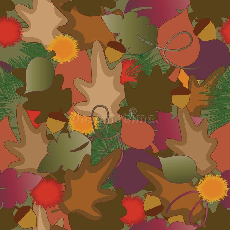 De achtergrond van de herfst royalty-vrije illustratie