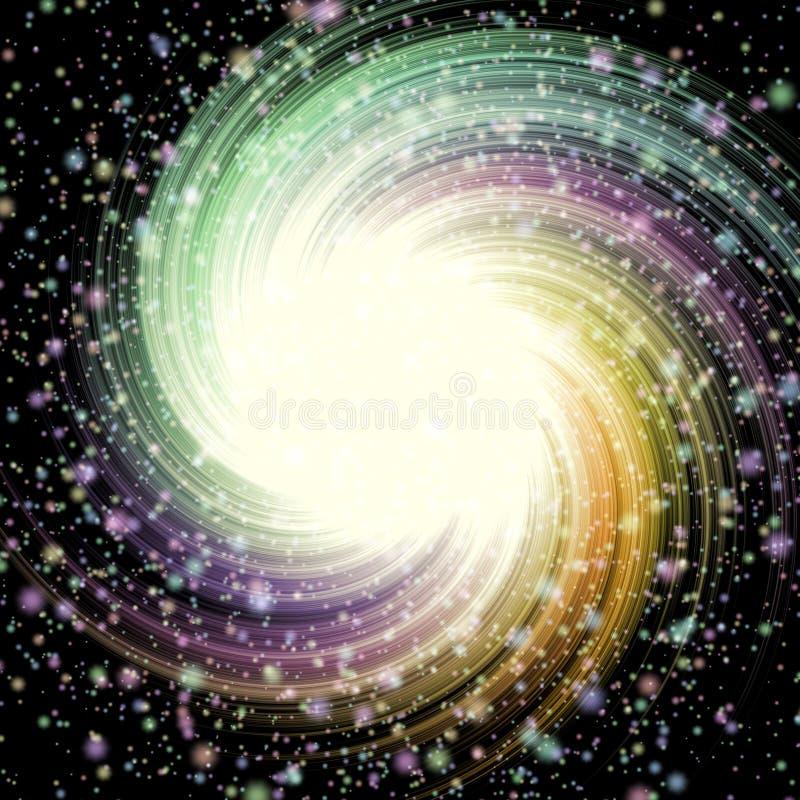 De achtergrond van de het patroontextuur van de sterrenwerveling stock illustratie