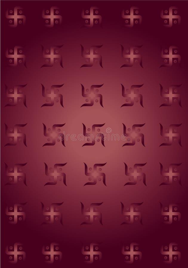 De achtergrond van de het symbooltextuur van Swastik! vector illustratie