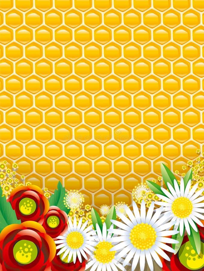 De achtergrond van de honing royalty-vrije illustratie