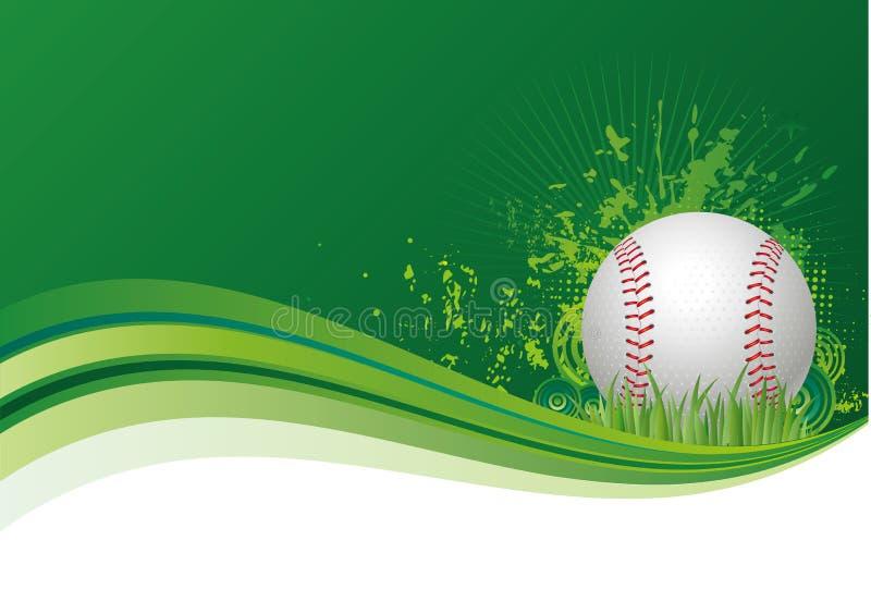 de achtergrond van de honkbalsport royalty-vrije illustratie