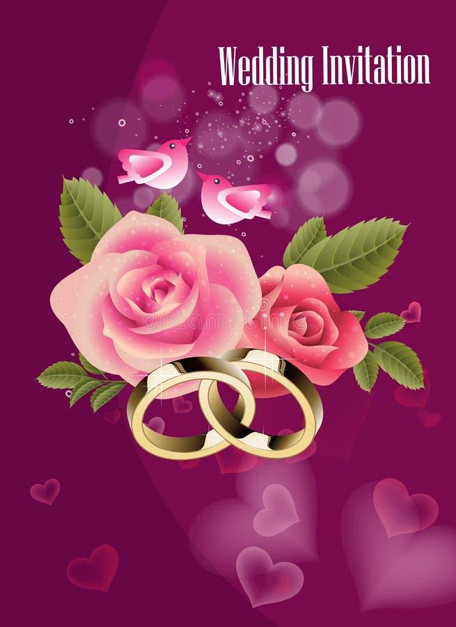 De Achtergrond van de huwelijksuitnodiging royalty-vrije illustratie