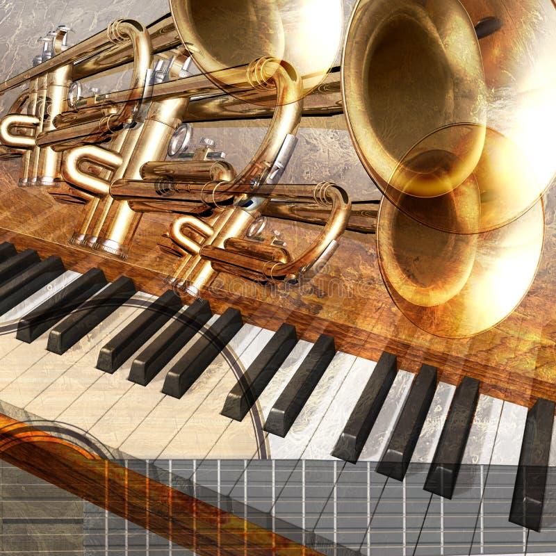 De achtergrond van de jazz royalty-vrije illustratie