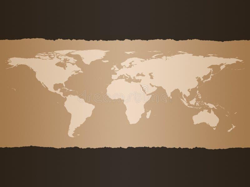 De Achtergrond van de Kaart van de wereld stock illustratie