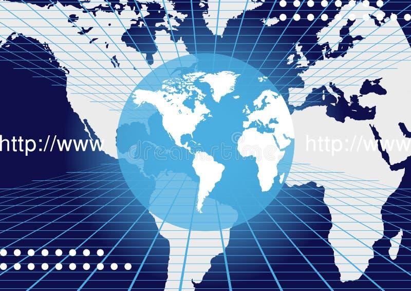 De Achtergrond van de Kaart van de wereld vector illustratie