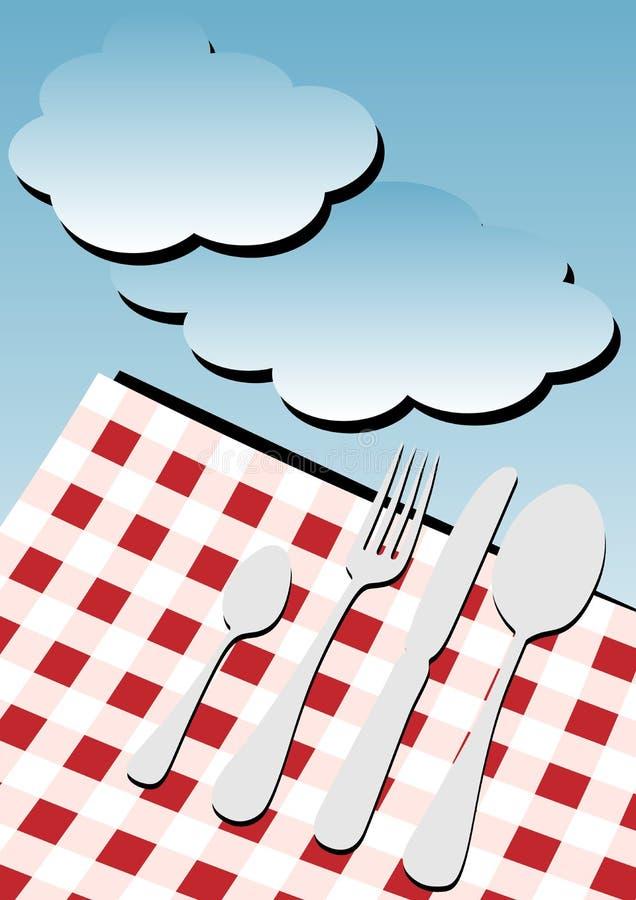 De Achtergrond van de Kaart van het menu - Picknick royalty-vrije illustratie