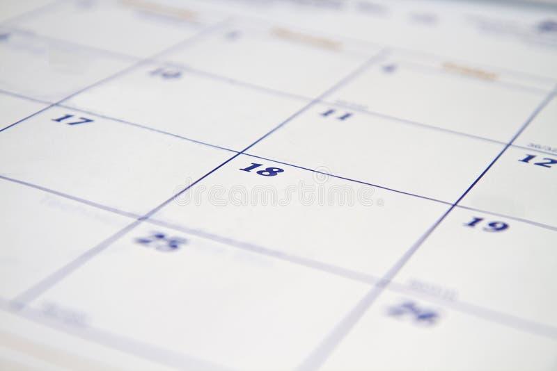 De Achtergrond van de kalender stock foto