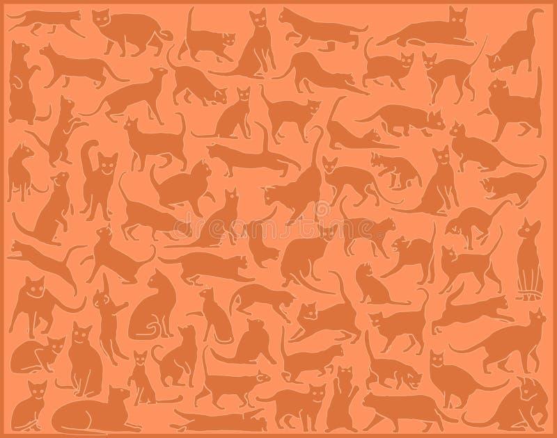 De achtergrond van de kat vector illustratie