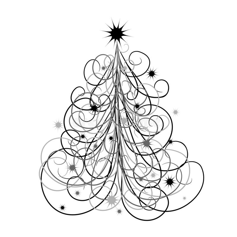 De achtergrond van de kerstboom,   vector illustratie
