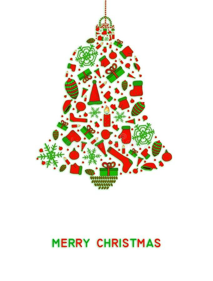 De achtergrond van de Kerstmisklok vector illustratie
