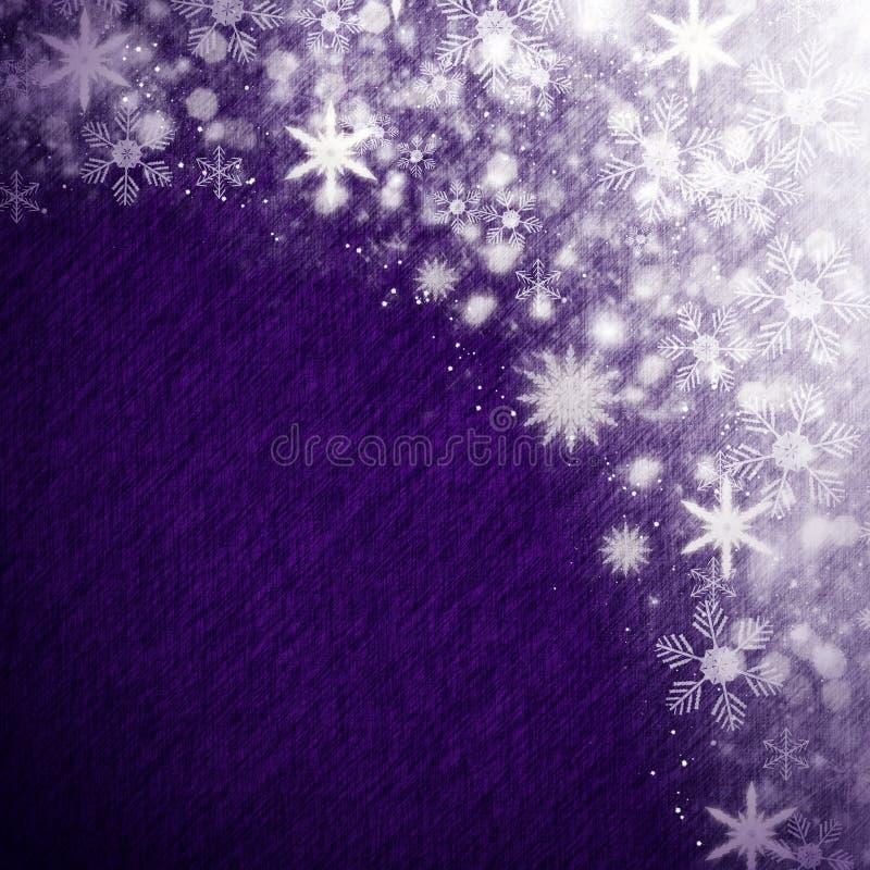 De achtergrond van de Kerstmissneeuw stock illustratie