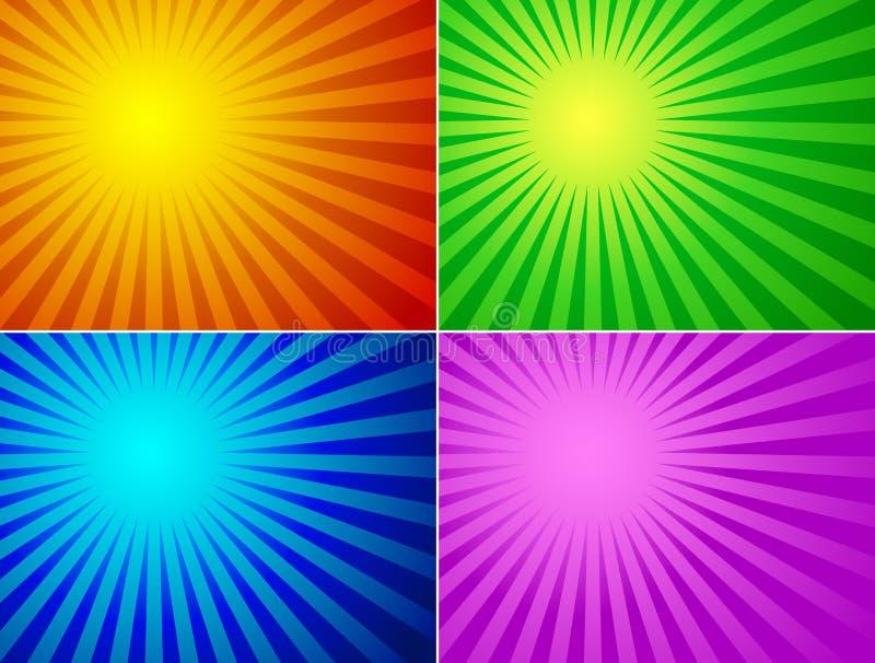 De achtergrond van de kleur royalty-vrije illustratie