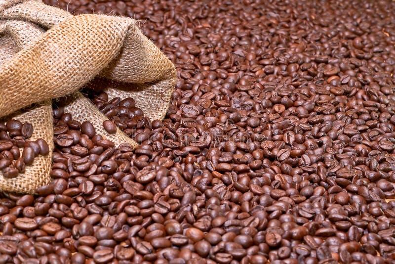 De achtergrond van de koffie stock afbeeldingen