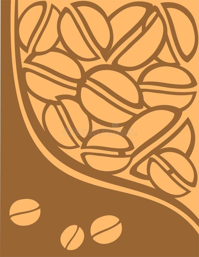 De achtergrond van de koffie stock illustratie