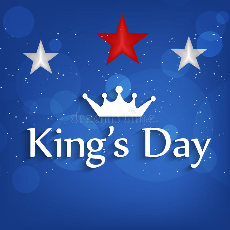 De achtergrond van de konings` s Dag royalty-vrije illustratie
